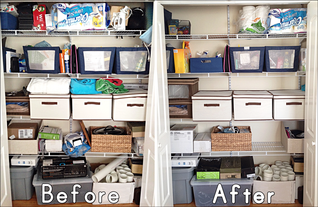 closet organizers before and after