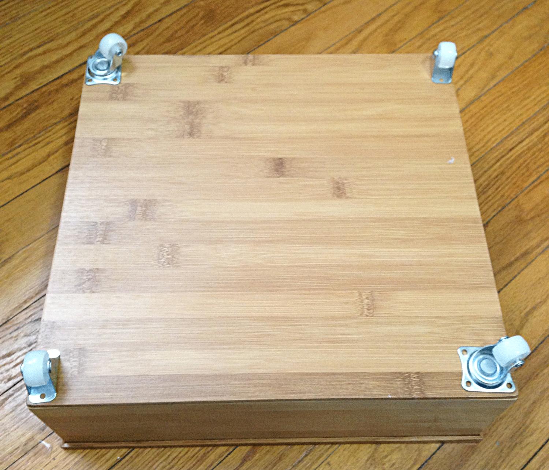 Under bed storage: DIY under bed drawer