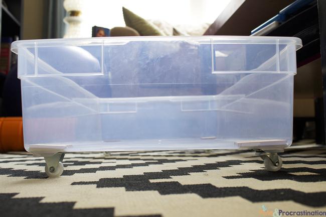 Under Bed Storage Diy Plastic Underbed Drawers Pins And