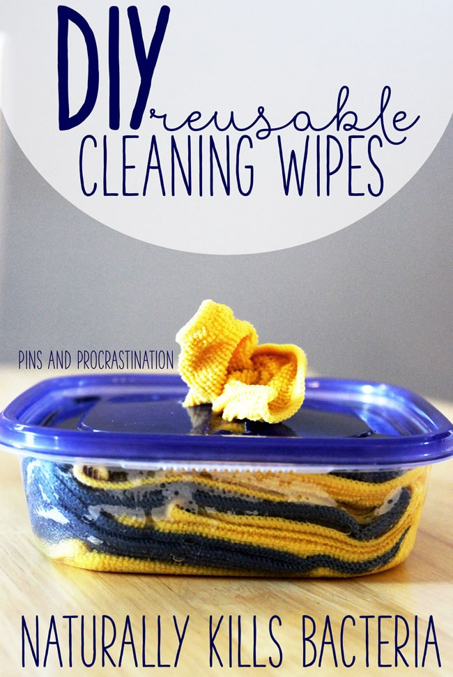 Everyone loves convenience. There's nothing more convenient than just reaching for a wipe and cleaning up a mess. But I always hate throwing them away- it feels so wasteful. So I came up with a solution: DIY reusable cleaning wipes! These wipes are totally green, effective, and washable! AND the green cleaning recipe that I use to make the wipes cleaning and disinfecting only costs 50 cents. If you love wet wipes but you hate being wasteful, these reusable cleaning wipes are just like homemade wet wipes. I use them every day now!