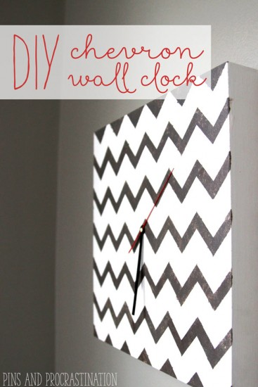 DIY Chevron Wall Clock