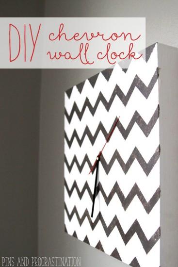 DIY Chevron Wall Clock