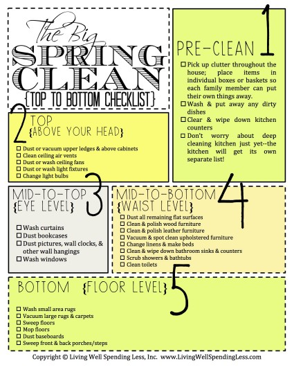 Want to do some spring cleaning but not sure where to start? These 5 spring cleaning checklists will help you find the best cleaning method for you! Each has a different method it follows to tackle tricky spring cleaning. You'll definitely find one you love!