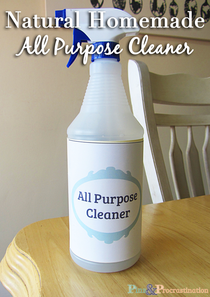 Natural Homemade All Purpose Cleaner (Plus free printable label)
