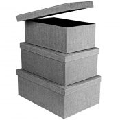 amazon gray decorative bins