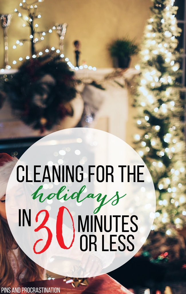 These 7 steps will help you fake a clean home for the holidays, or year round. Quick cleaning gets your home guest ready in less than 30 minutes. I can't believe how well this method works!