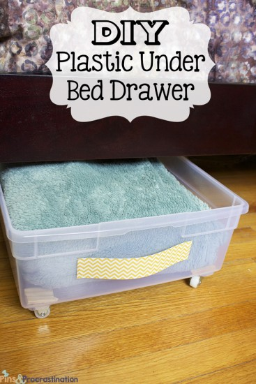 DIY Plastic Under Bed Drawer