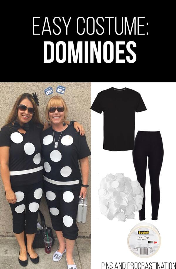 Easy Last Minute DIY Halloween Costume: Dominoes