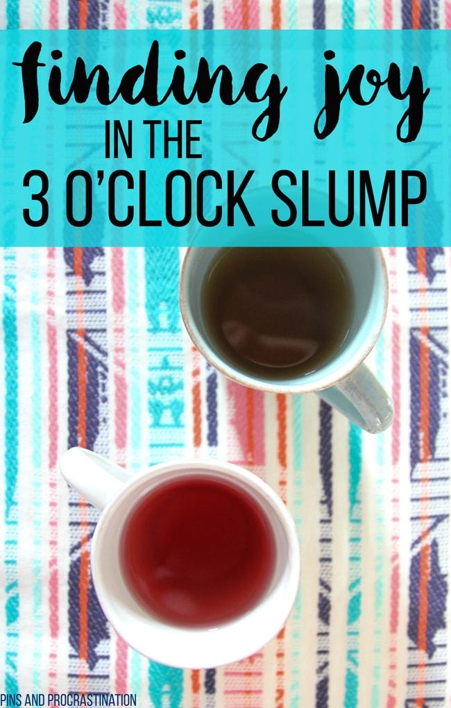 Finding Joy in the 3 o'clock Slump