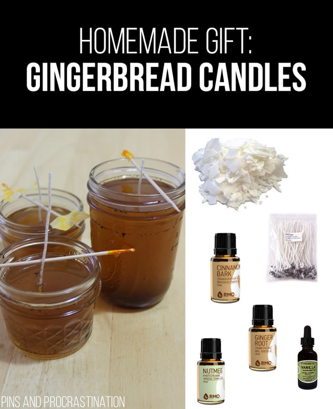 Picking out gifts can be so difficult. That's why I love homemade gifts- they're easy to customize and they feel so personal, and they save you money! So it's really a win-win. This list of homemade gift ideas is perfect! These homemade gingerbread candles are a perfect gift.