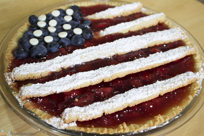 Gluten Free Strawberry American Flag Pie