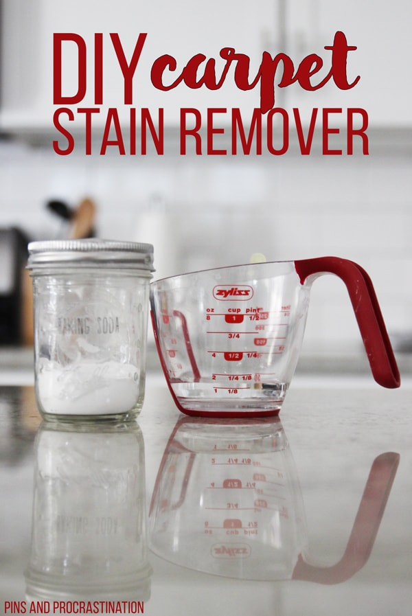 Staining your carpet is the worst! Luckily, this is the perfect homemade solution for carpet stains! This DIY carpet stain remover is so easy and fast, plus it's all natural. It only takes 30 seconds to remove the stain, and costs less than 30 cents. I couldn't ask for more in a homemade carpet stain remover.