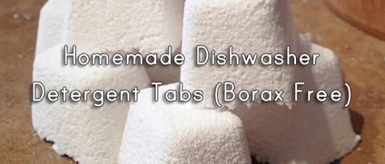 Homemade Dishwasher Detergent Tabs (Borax Free!)