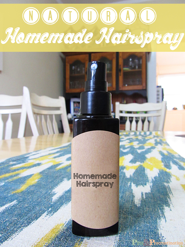 Natural Homemade Hairspray