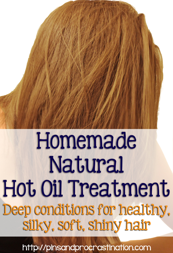 Homemade Natural Hot Oil Hair Treatment
