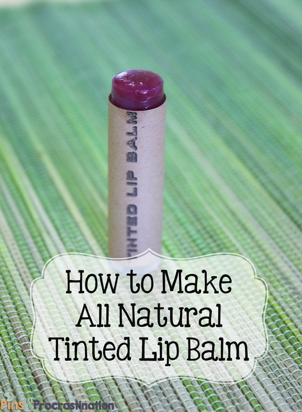 How to Make All Natural Homemade Tinted Lip Balm