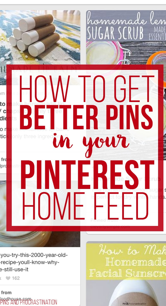 Frustrated with your pinterest home feed? You don't have to be anymore! Follow these simple tips to help customize your pinterest home feed so you LOVE it again. It'll show you awesome Pinterest topics to follow.