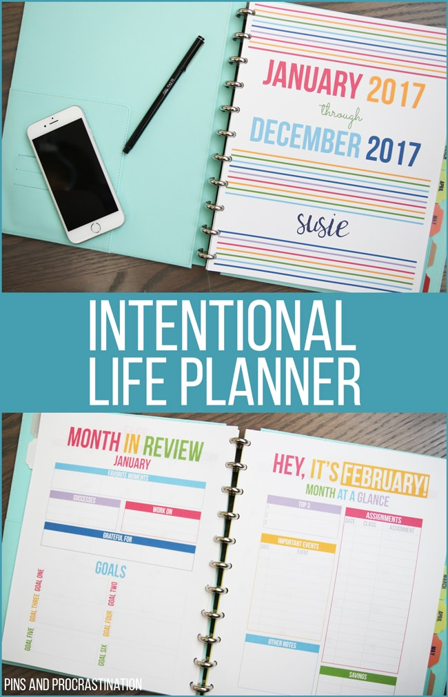 These intentional life planners are perfect to help you live intentionally and focus on what matters to you while still staying organized and keeping track of busy schedules. Plus they have an awesome bright and happy design! There's an awesome bonus gift here so make sure to read till the end!