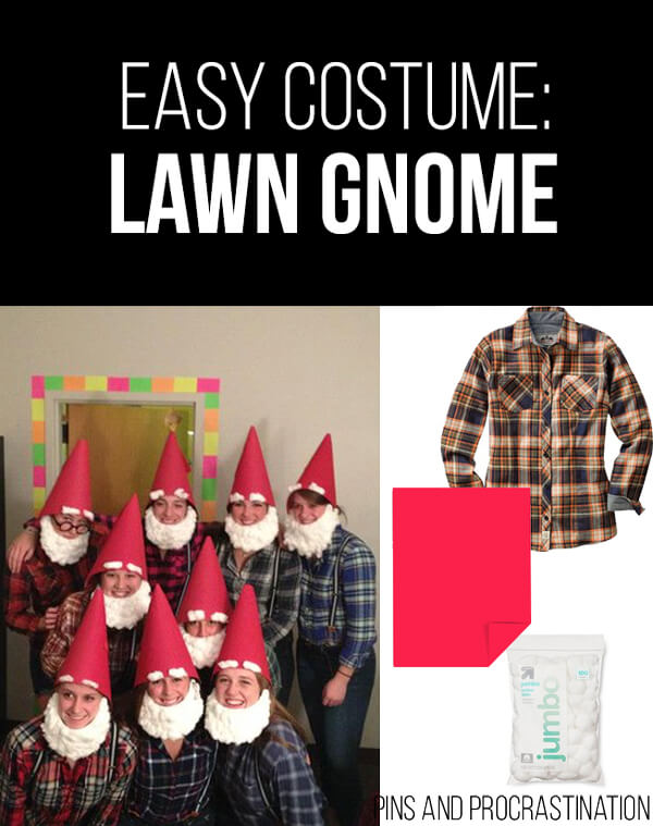 Easy Last Minute DIY Halloween Costume: Lawn Gnomes
