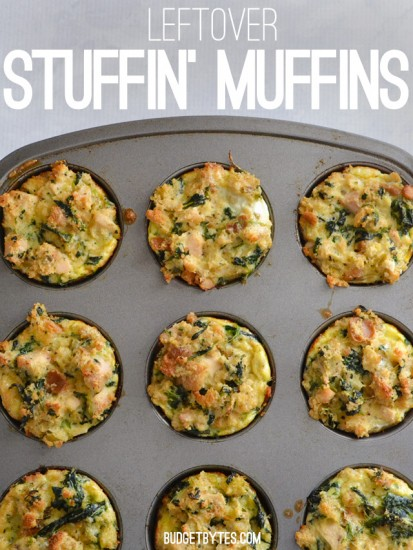 leftover stuffin muffins budget bytes