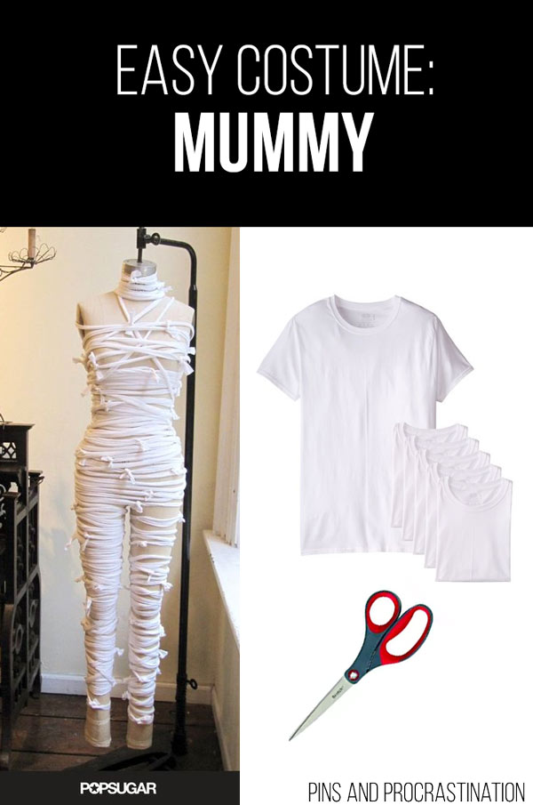 Easy Last Minute DIY Halloween Costume: Mummy