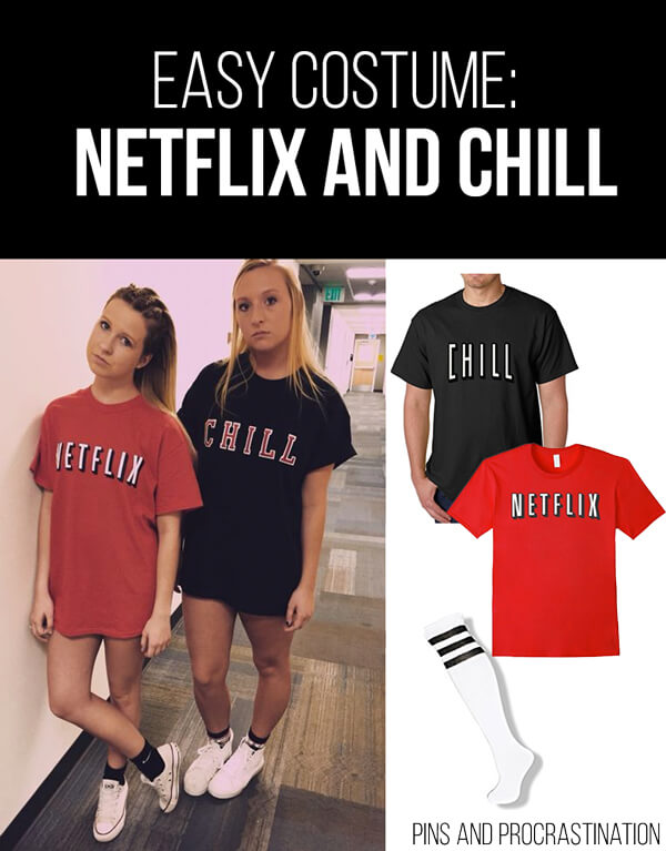 Easy Last Minute DIY Halloween Costume: Netflix and Chill