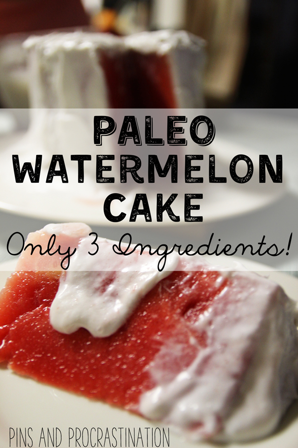 "The paleo diet has been so good for my health- but not matter what I just cannot kick my sweet tooth. So once in a while I need a sweet treat! This ""cake"" is perfect for summer and it is so simple- you really only need 2 ingredients."
