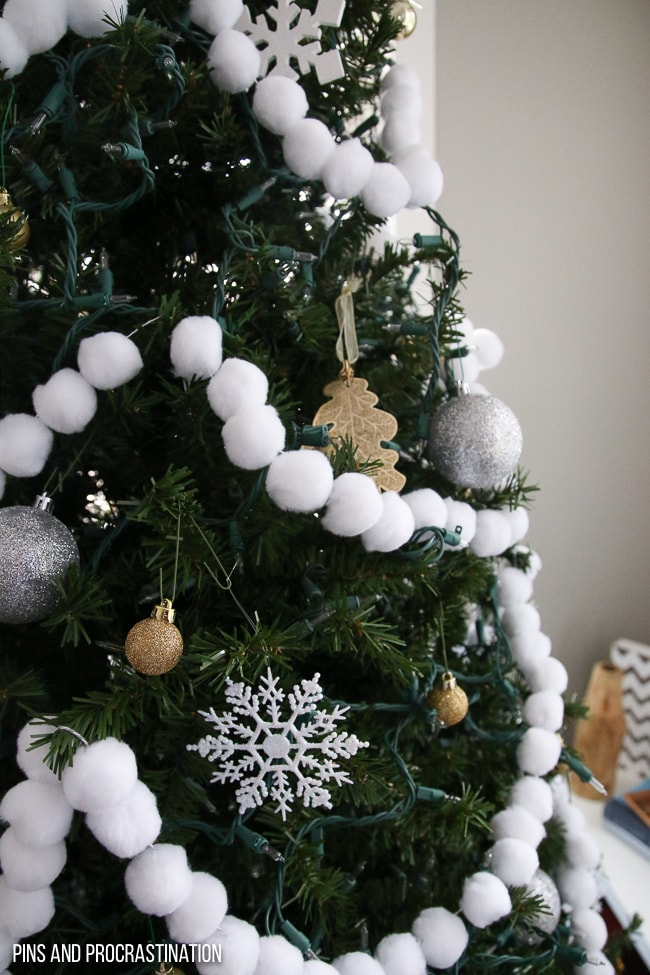 If you're looking for a fun, easy, and adorable Christmas craft, look no further. This pom pom garland is so easy to make, and it looks great on the tree. Itis the perfect festive Christmas craft. It makes my tree look so happy and unique!And it really couldn't be any easier to make. So much cuteness from so little effort! It makes such great Christmas tree decor!