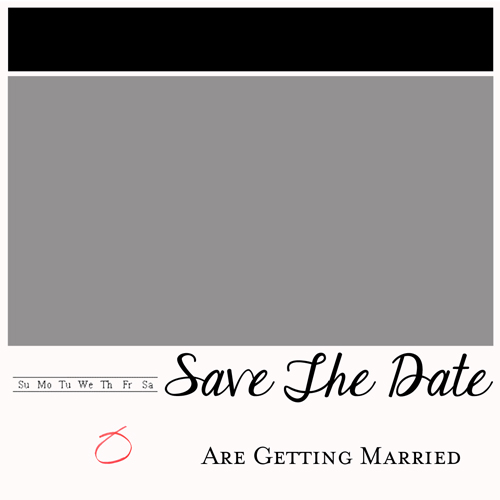 DIY Page a Day Calendar Save the Dates