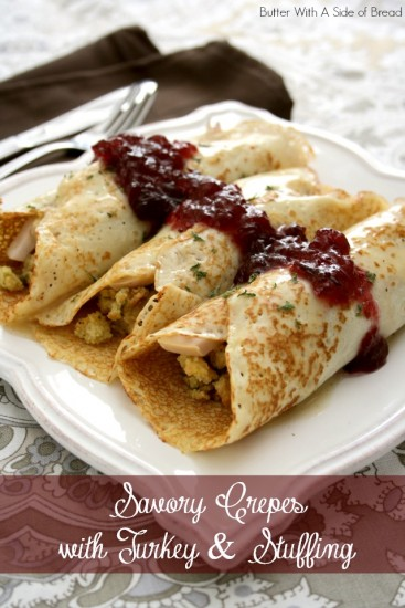 savory crepes butter with a side of bread