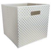 target gold dots cube bin-min