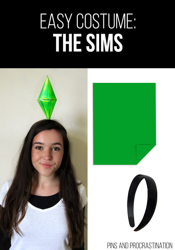 Easy Last Minute DIY Halloween Costume: The Sims