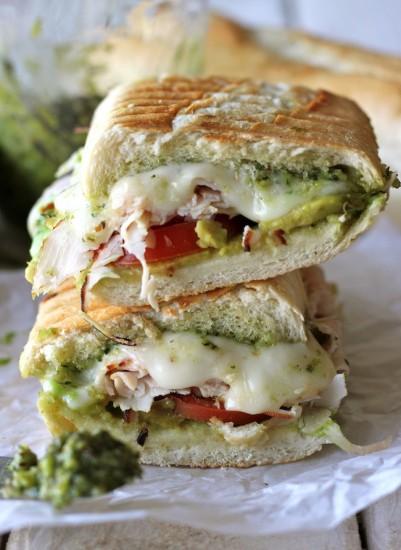 turkey pesto sandwich damn delicious