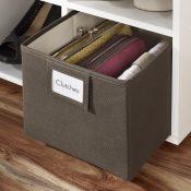 wayfair fabric bin with label-min