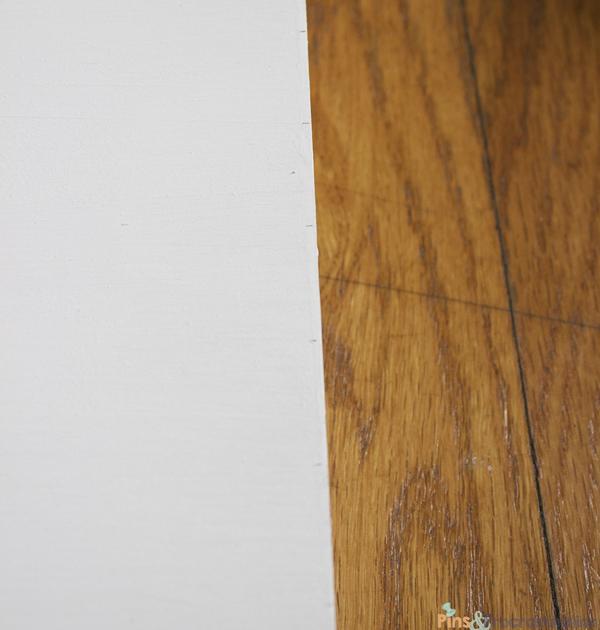 DIY knockoff west elm chevron wall clock