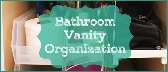 It's amazing how much the little organizational touches can make a difference. Our bathroom cabinet was a total disaster! With a few simple organizing supplies, it became functional again.