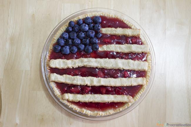 Gluten Free Strawberry American Flag Pie